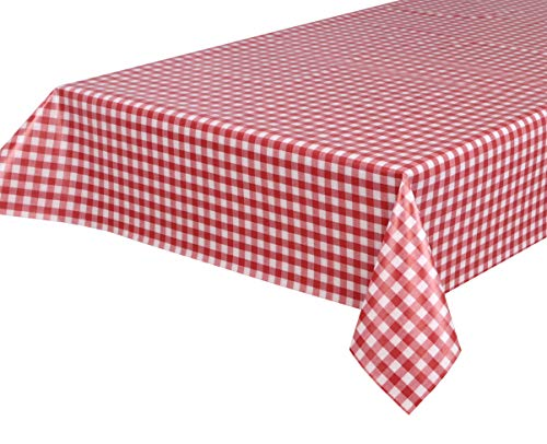 BEAUTEX Wachstuchtischdecke Wachstuch Tischdecke abwischbar ECKIG RUND OVAL, Motiv und Größe wählbar (Motiv: Bavaria rot, Eckig 140x100)
