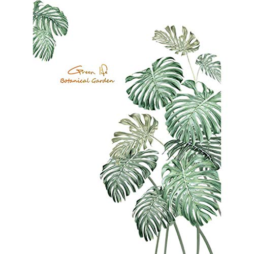 jieGorge DIY Beach Tropical Palm Leaves Wall Stickers Modern Art Vinyl Decal Wall Mural, Wall Sticker , for Christmas Day (Green)