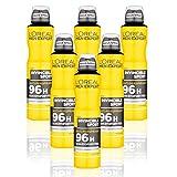 L'Oréal Men Expert Invincible Sport 96H Déodorant Anti-transpirant 250 ml Lot de 6