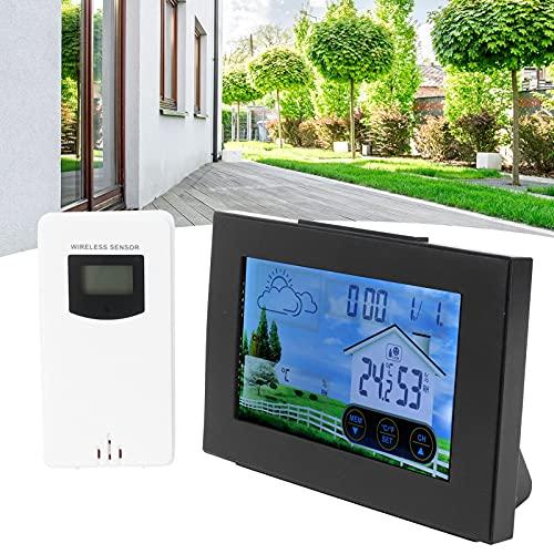 Surebuy Despertador higrómetro, Reloj multifunción de Amplio Rango de Temperatura para Interiores y Exteriores para el hogar