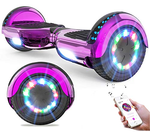 GeekMe Hoverboards Auto bilanciamento Scooter 6.5 \'\' Regalo per Bambini e Adulti - Bluetooth Altoparlanti LED luci