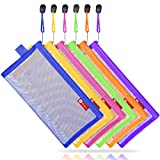 NiceGo Zipper Invoice Holder Bag Envelope for Document Storage Pouch Organizer for Bill Budgets, Checks, Pencils, 6 Piece in One Package