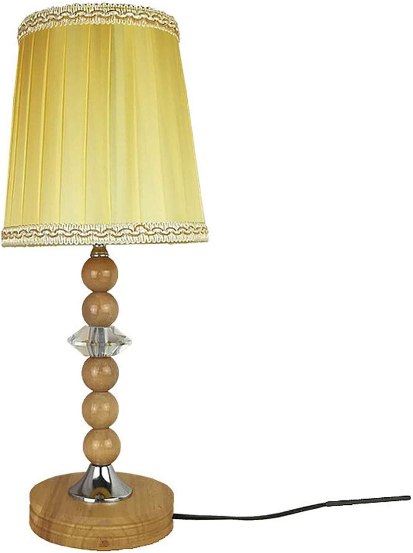 Solide Holztisch Holztisch Holztisch Lampenblatt Und Fabric Shade Dekorationsschaufel Lampe Nachtlicht Für Schlafzimmer Wohnzimmer E26 E27 Bulb B07KFB8B2S | Mode-Muster  c8ecc8