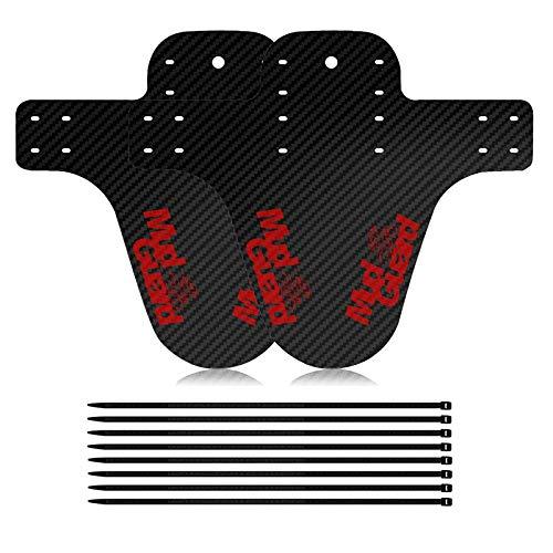 2 Stücke Mud Guard vorne Oder Hinten Kompatibel, Downhill Schutzbleche, MTB Carbon Mud Guard, für Blockieren von Schlamm auf Fahrrädern und Mountainbikes, Sauber Halten