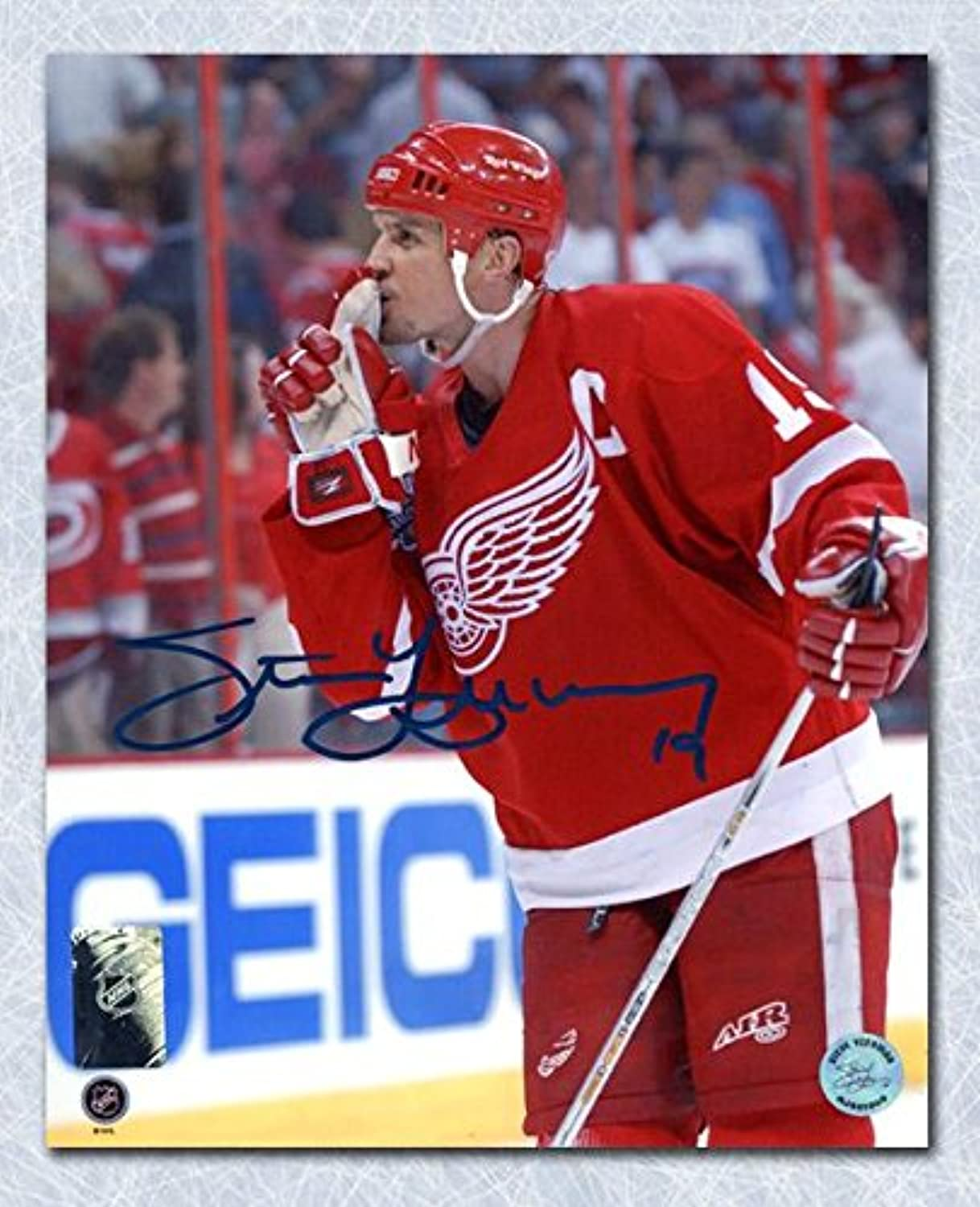 Signed Yzerman PhotographQuiets Rival Crowd 8x10Autographed NHL Photos