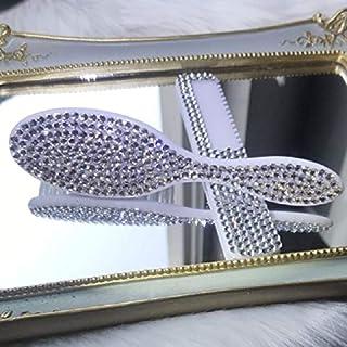 Fashion Silver Rhinestone Anti Static Brush Thin Teeth Comb Disposable Bling Baby Comb for Newborn Gift Set