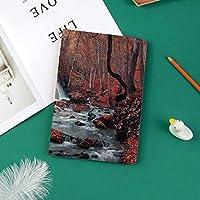 カスタム iPad Pro 11 2018 ケース (2018新モデル) マグネットス吸着式 オートスリープ機能滝と秋の森シルバーストリーム秋クリミア半島の自然