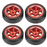Bnineteenteam Neumático de Deriva de aleación de Aluminio de 4 Piezas, Accesorios de Coche RC para Wltoys K969 K989 P929 1/28 RC(Rojo)
