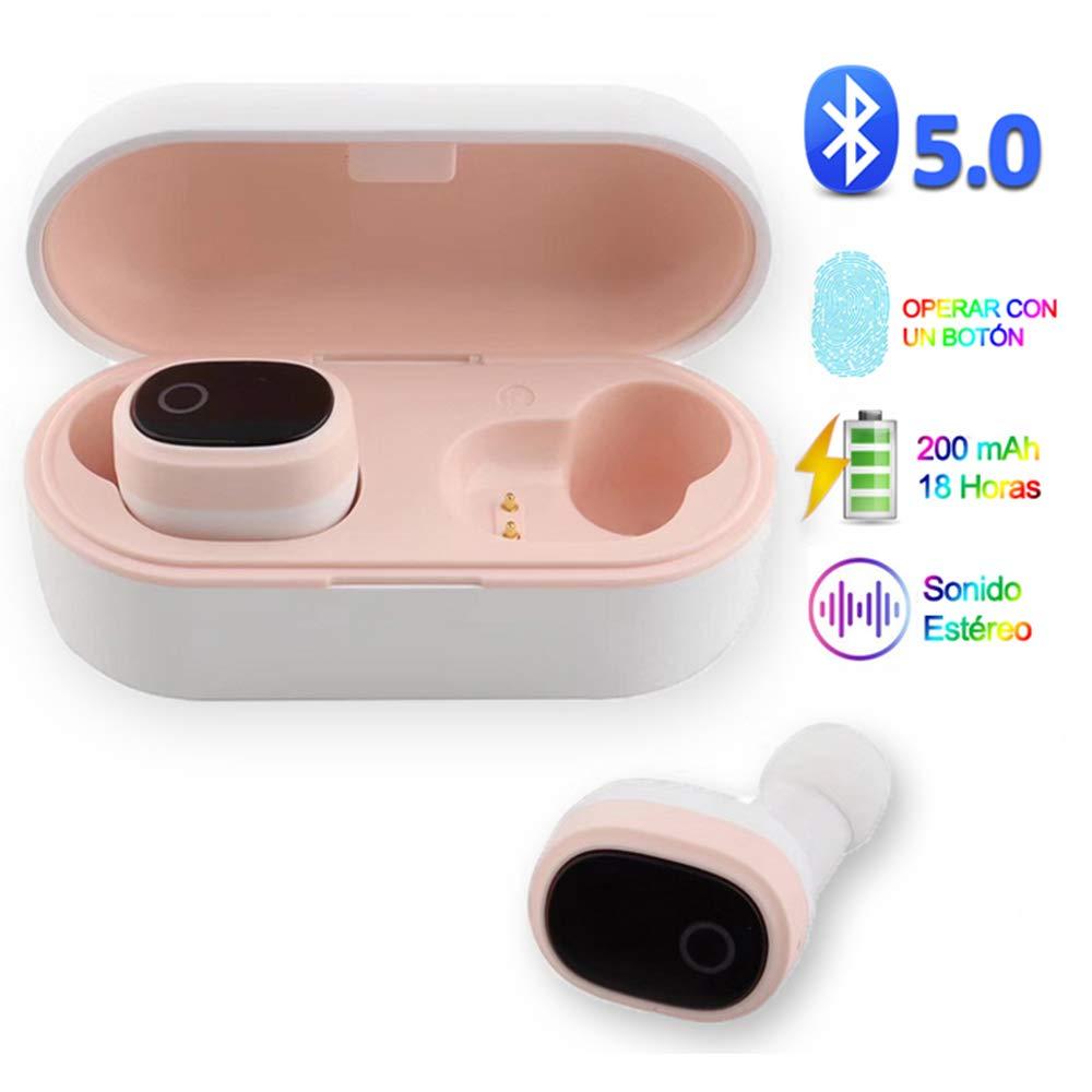 YiYunTE Mini Auriculares Bluetooth 5.0 Inalámbricos TWS Estéreo In Ear Auriculares Micrófono Manos Libres con Caja de Carga Portátil Deportivos Cascos para iPhone Samsung Huawei Android iOS: Amazon.es: Electrónica