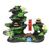 XYZMDJ Acuario de Molino de Viento Giratorio Accesorios de decoración de Pescado Adornos de paisajismo de Tanques de Pescado Decoración de Rocas Decorativas