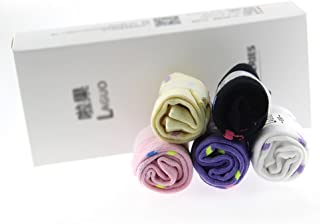 5 pares de calcetines de tobillo de corte bajo de dibujos animados para mujeres con patrón de paraguas- 5 colores