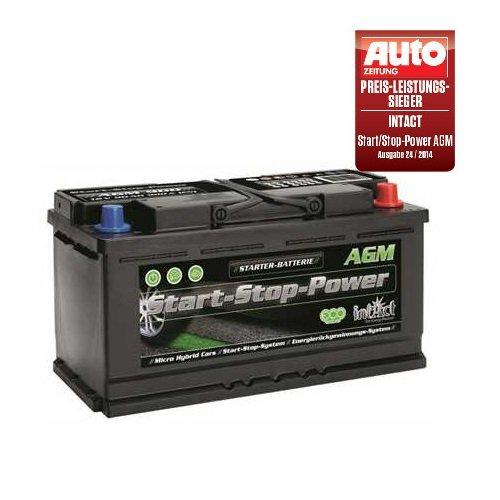 Intact AGM 900 Start Stop Autobatterie 12V 95 Ah 850 A Preis-Leistung-Sieger GTÜ 2014