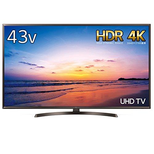 『LG 43V型 液晶 テレビ 43UK6300PJF 4K HDR対応 直下型LED 2018年モデル』の1枚目の画像