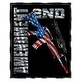 Blankets 50 x 60  AR15 Second Amendment Flag Throw Blanket ADDC6-RN2193-TB
