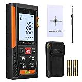 Laser Entfernungsmesser, Distanzmessgerät Messbreich 0.05~60m/±1.5mm, mit 2 Libellen Messeinheit...