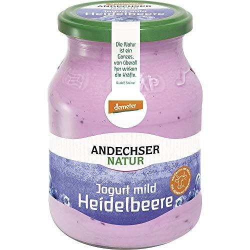 Andechser Natur Bio AN demeter Jogurt mild Heidelbeere 3,7% (6 x 500 gr)