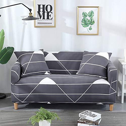 ASCV Envoltura de algodón elástico Fundas de sofá con Todo Incluido para Sala de Estar Funda de sofá para Silla Loveseat Protector de Muebles A8 2 plazas