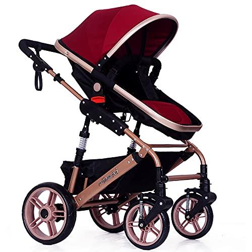 Cochecitos de bebé,Fesjoy Cochecito de bebé plegable de alta vista Cochecito de viaje convertible Cochecito de bebé con asiento múltiple reclinable Asiento extendido Toldo recién nacido Infant