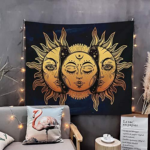 WAZA Tapiz de Pared Mandala Sol y Luna Bohemio Tarot Tapices Toallas de Playa Tapetes de Yoga Manteles Sábanas Decoración de Pared Sala de Estar Dormitorio (200x150 CM)