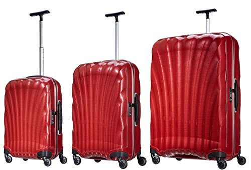 Best Prices! Samsonite Luggage Black Label Cosmolite 3 Piece Spinner Luggage Set (One size, Red)