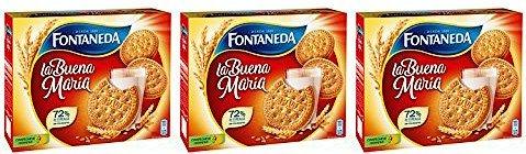 Fontaneda Spanische Kekse Maria / Galletas Maria 800 gr. - [Pack 3]