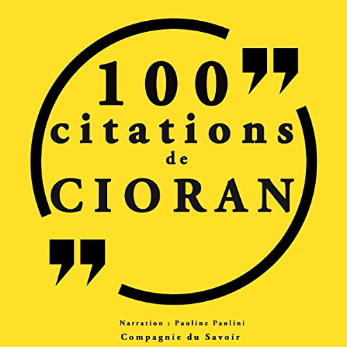 Couverture de 100 citations Cioran
