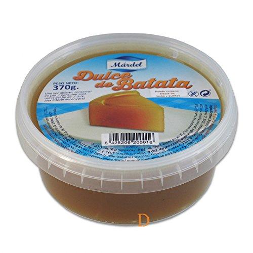 Postre de camote, caja de plástico 370g - Dulce de Batata MARDEL 370g