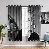 weilan1999 Isolierte Gardinen Marilyn-Monroe Gardinen für Jungen Wohnzimmer Ösen Gardinen 106,7 x 160 cm