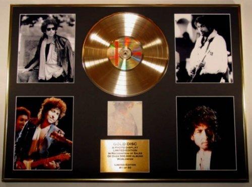 GOLD RECORD Bob Dylan Goldene Schallplatte und Fotoanzeige, Limitierte Auflage, Coa/großartigste Hits