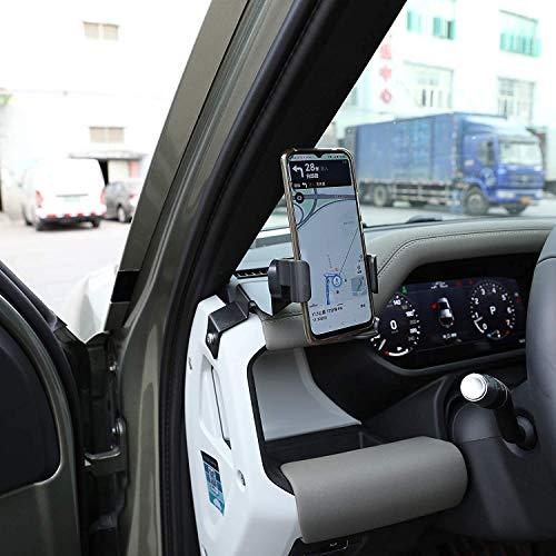 ACCEMOD Cuna del teléfono para Land Rover Defender 110 2020 2021 Alumium aleación Dashboard lateral teléfono móvil titular Trim Car Accesorios