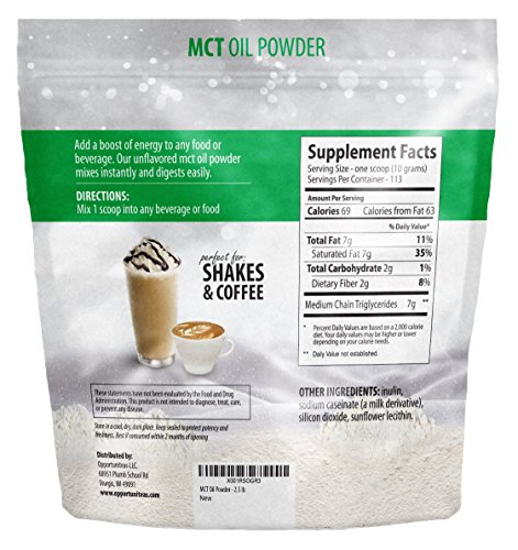 MCT Oil Powder - Bulk 2.5 lb Size - Delicious Creamer for Coffee, Tea, Smoothie, Recipe - Perfect Supplement for Keto, Ketogenic Diet - Easy Digestion & Instant Energy - Non GMO, Gluten & Soy Free 4