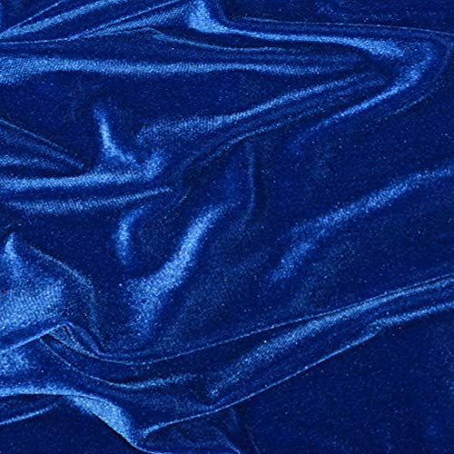Pico Textiles Royal Blue Stretch Velvet Fabric - 60' Wide - 2 Yards Bolt - Multi Collection - Style #72407