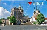 Cadora Magnetschild Kühlschrankmagnet I Love Erfurt II