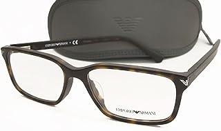 【EMPORIO ARMANI】エンポリオ アルマーニ 眼鏡 メガネフレーム EA3072F-5089 正規品 伊達眼鏡 度ナシ 1.60 UVカット レンズ付き