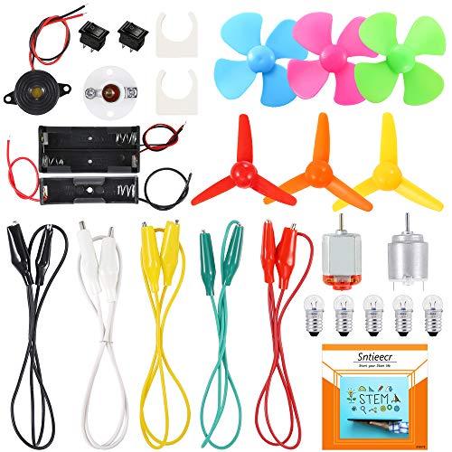 Sntieecr Elektronik Schaltungen Motor Kit, Wissenschafts Experiment Pädagogisches Elektronisches Kit für Kinder DIY STEM Engineering Projekt