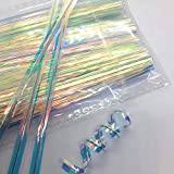 Weststone 200 pcs 4' Rainbow Color Metallic Twist Ties for Cello Bags in Birthday Party