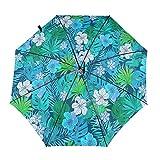 Diseño automático ligero ligero compacto portátil de la flor y de las hojas tropicales azules del viaje y de la alta resistencia al viento