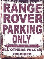 レンジローバー駐車作業車 金属板ブリキ看板警告サイン注意サイン表示パネル情報サイン金属安全サイン