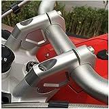 2 abrazaderas de manillar de mecanizado CNC de 32 mm con tornillos para BMW R1200GS LC ADV 2014-2017