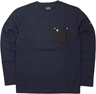 (ショット) Schott 長袖 鹿革 ポケットTシャツ ワンスター 国内正規品 ネイビー 3173078-87