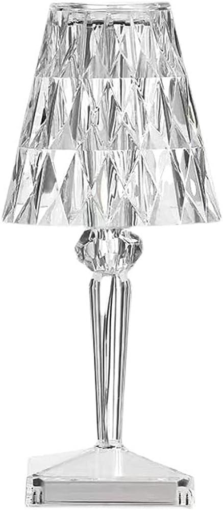 Yozeka crystal lampada da tavolo ricaricabile a batteria usb touch in cristallo
