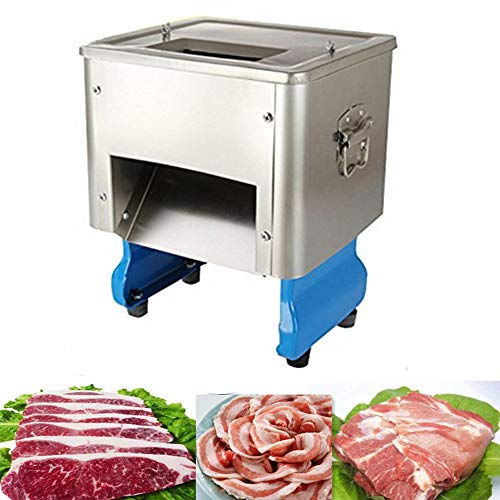 Meat Shred Machine,zorvo Stainless Steel Electric Meat Slicer Machine Auto Meat Cuber Restaurant Meat Cutting Machine, Cutter, Dicer, Slicer -110V