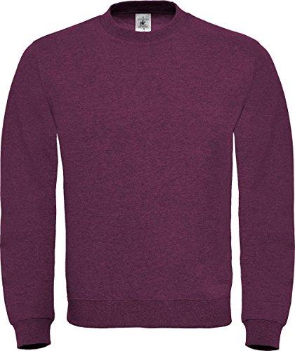B&C Collection felpa da uomo, maglione casual a maniche lunghe Wine XXXXL