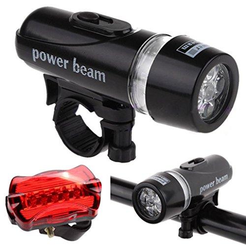 Bike Light Set, fonte Power étanche 5Lampe LED Bike Front Head Light + Set de sécurité lampe de poche arrière, Best avant et Rear Cycle Lighting, compatible tous vélos
