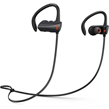 Wireless headphones, TaoTronics Bluetooth Headphones 13 Hours Playtime Bluetooth 5.0 Sport Earphones IPX7 Waterproof Wireless Earbuds Built-in Microphone Ear Hooks