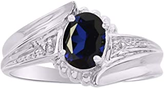 Stunning Diamond & Blue Sapphire Ring Set In Sterling Silver .925