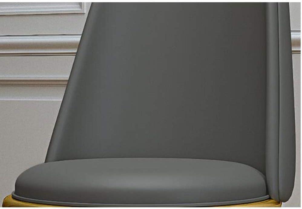 Rembourré En Cuir Durable Chaise Dressing Femme Chambre Moderne Minimaliste CHAISE Simple Sauvegarde Tabouret +++ (Color : Light gray) White