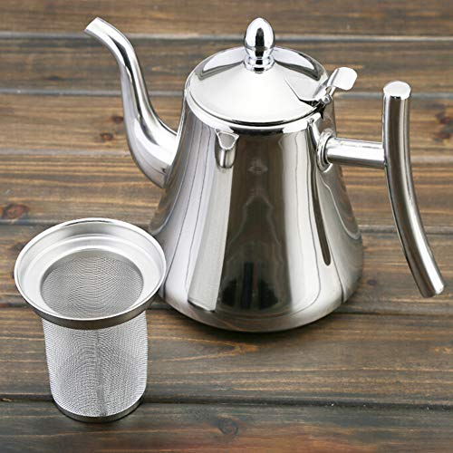 Cheapest Prices! Shentesel Loose Tea Pot Stainless Steel Strainer Filter Infuser Kettle Coffee Maker...