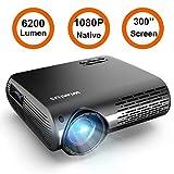Best Tv Projectors Lcds - Projector, WiMiUS P20 Native 1080P LED Projector 6200 Review