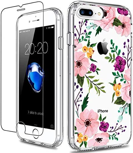 GiiKa iPhone 8 Plus Case iPhone 7 Plus Case with Screen Protector Clear Heavy Duty Protective product image
